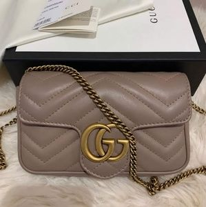 Authemtic Gucci Mini Marmont Matelasse Bag